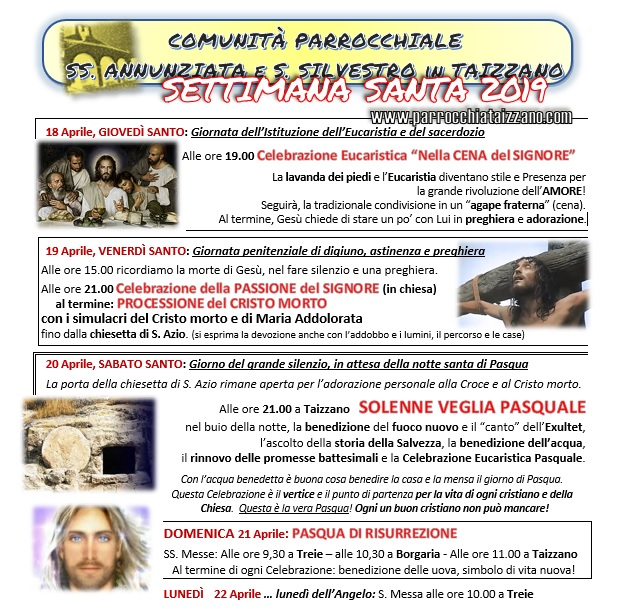 settimana santa 19 programma foto